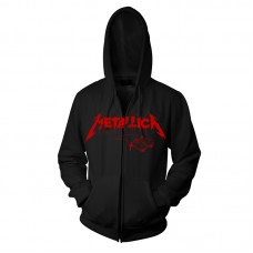 "Metallica - ""One Red Logo"" Zip Hoodie"
