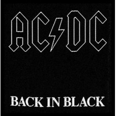 "AC/DC - ""Back In Black"" Patch"